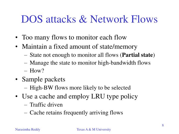 DOS attacks & Network Flows