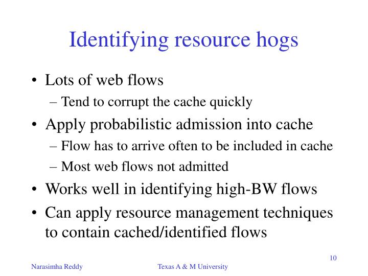 Identifying resource hogs