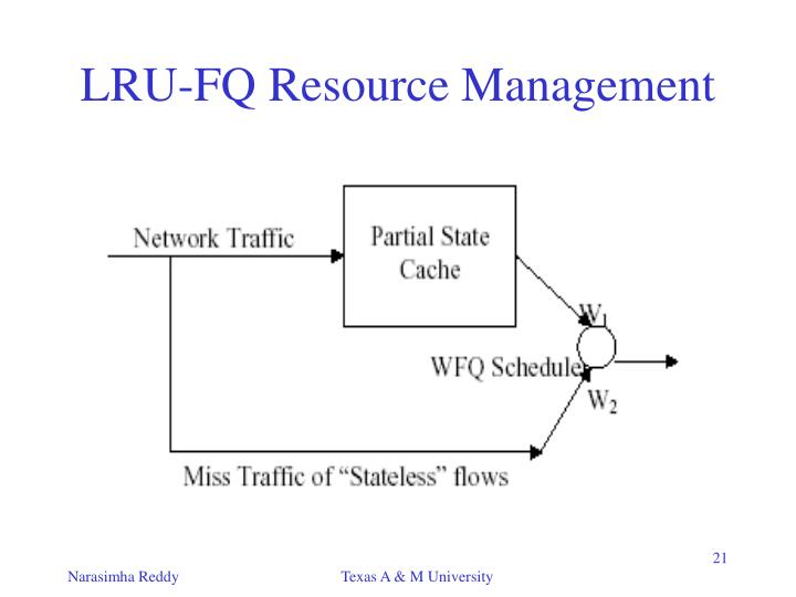 LRU-FQ Resource Management
