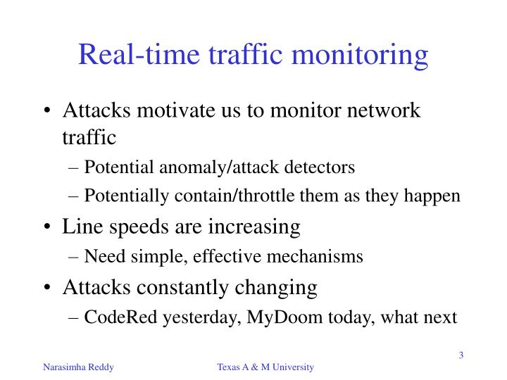 Real-time traffic monitoring
