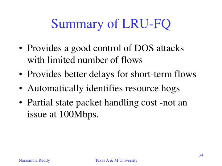 Summary of LRU-FQ