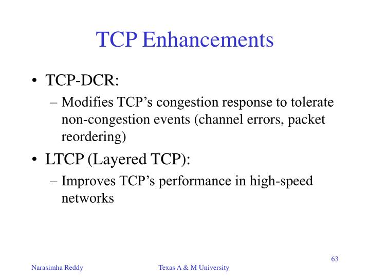 TCP Enhancements