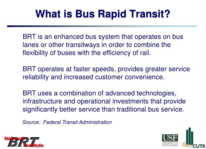 What is Bus Rapid Transit?