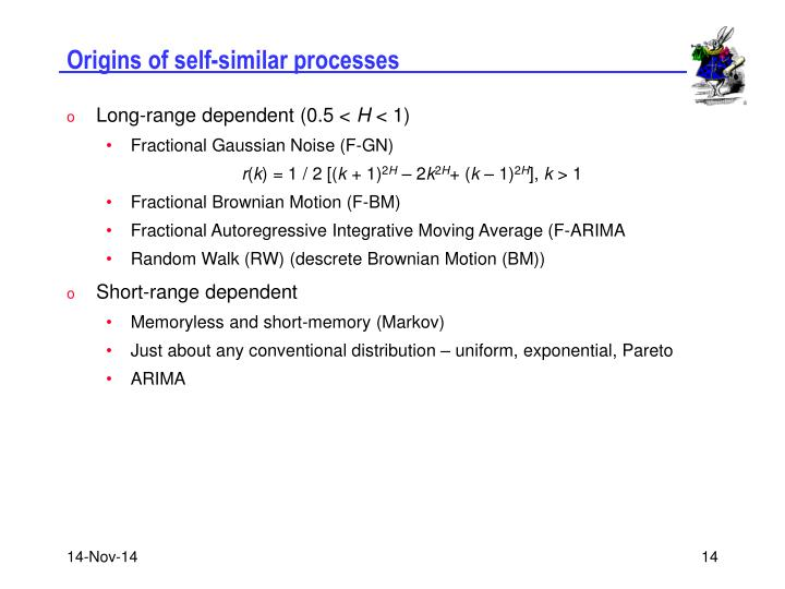 Origins of self-similar processes