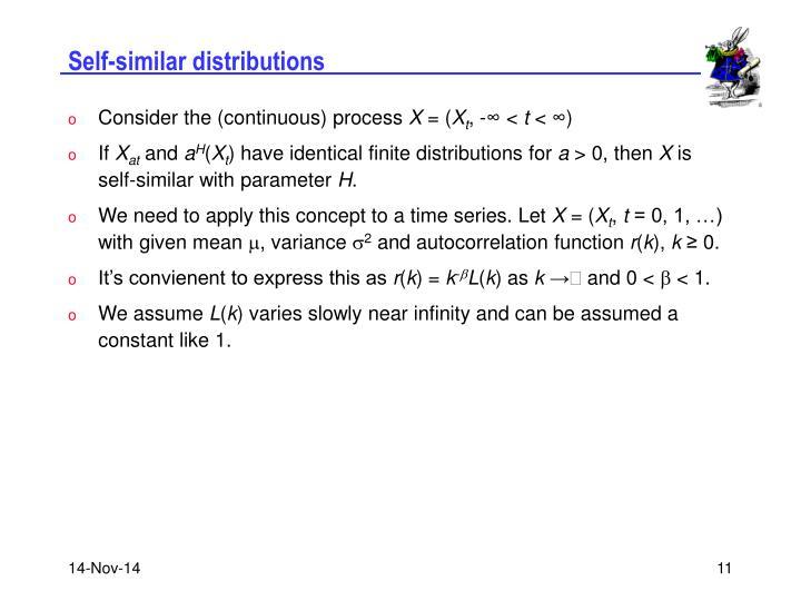 Self-similar distributions
