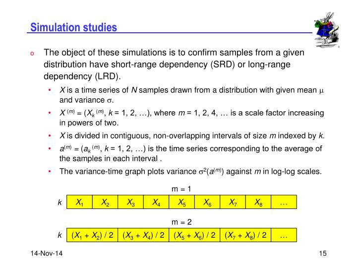 Simulation studies