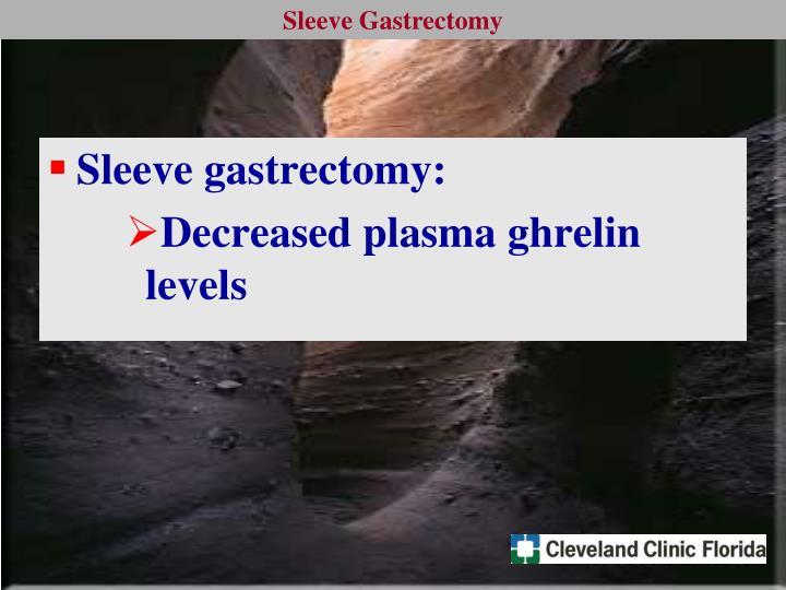 Sleeve gastrectomy: