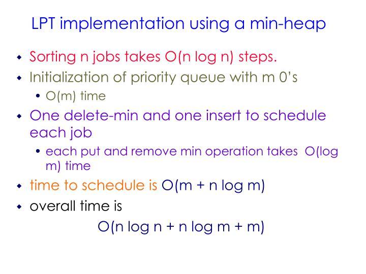 Sorting n jobs takes O(n log n) steps.