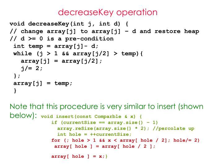 decreaseKey operation
