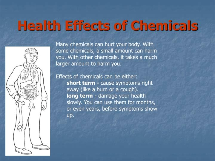 Health Effects of Chemicals