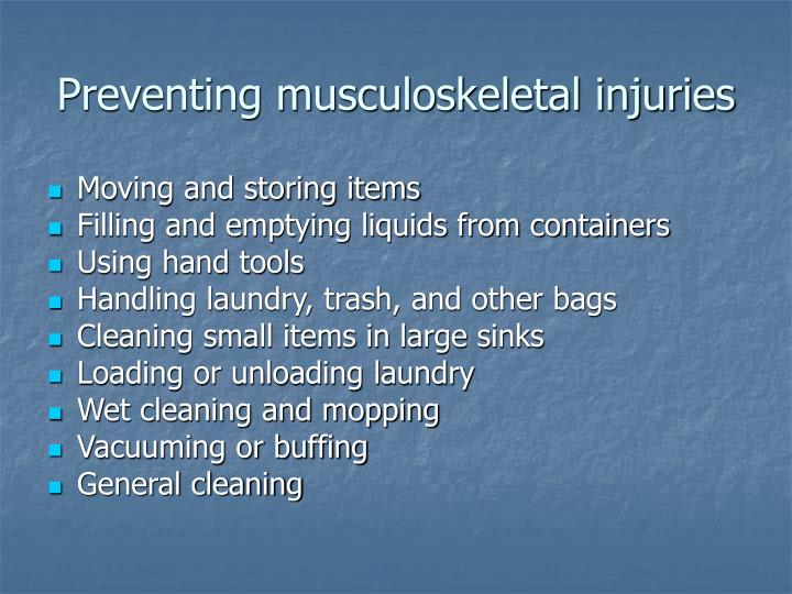 Preventing musculoskeletal injuries