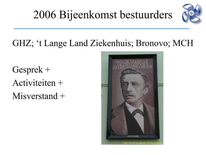 GHZ; 't Lange Land Ziekenhuis; Bronovo; MCH