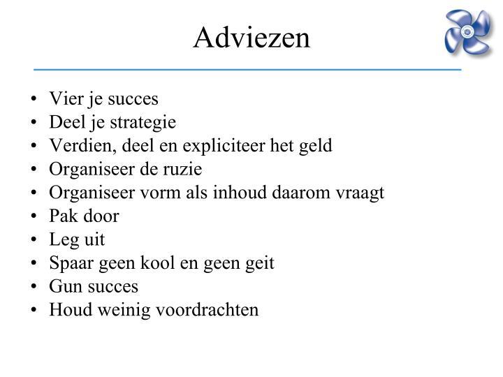 Vier je succes