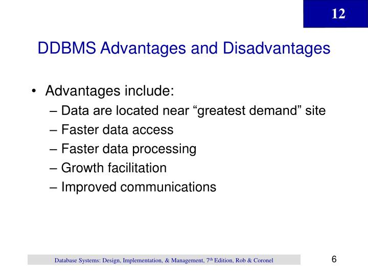 DDBMS Advantages and Disadvantages