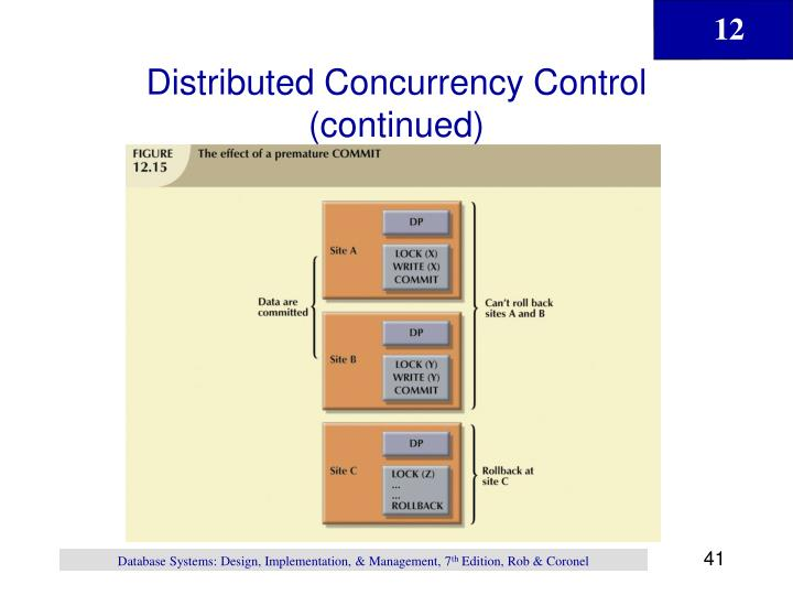 Distributed Concurrency Control (continued)
