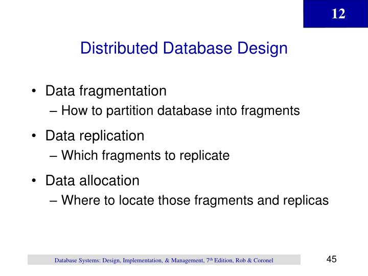 Distributed Database Design