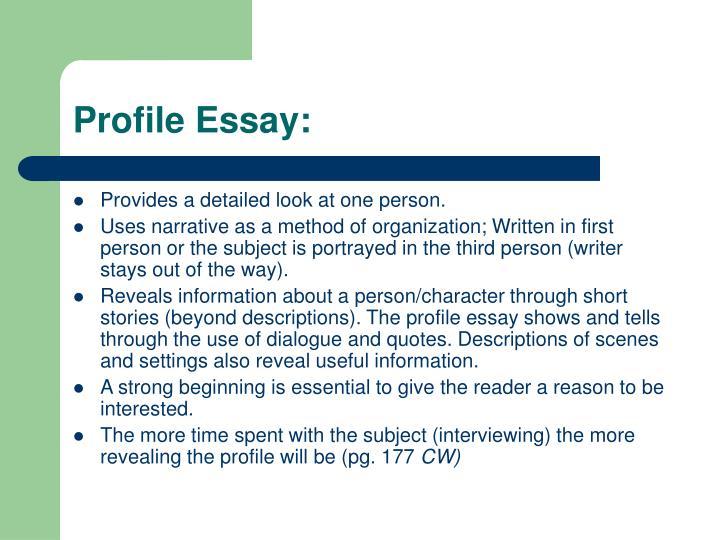 Profile Essay:
