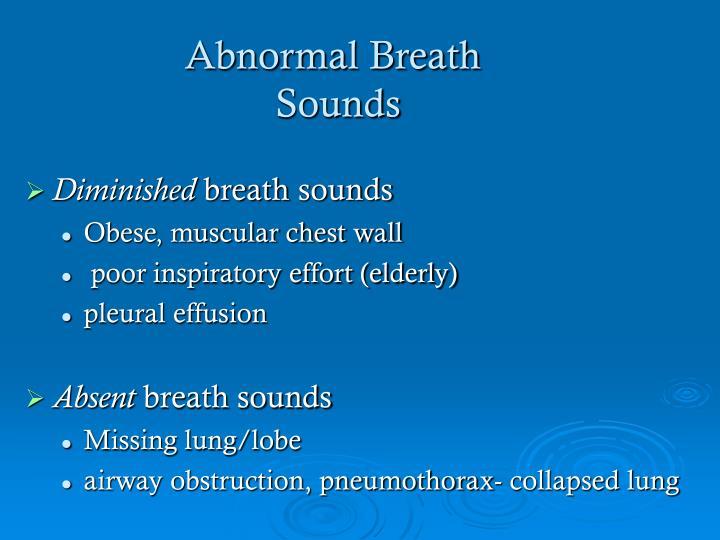 Abnormal Breath