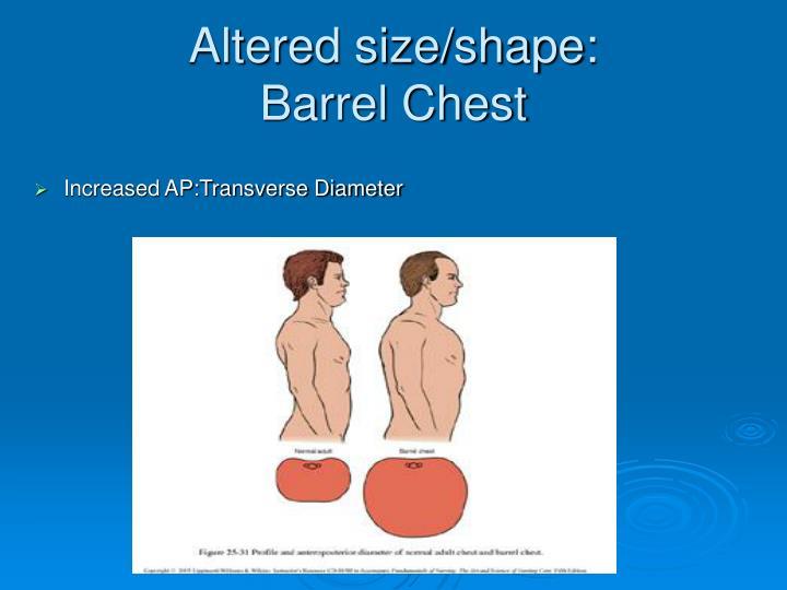 Increased AP:Transverse Diameter