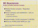 bd biosciences division of becton dickinson company