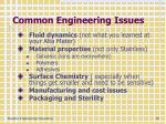 common engineering issues