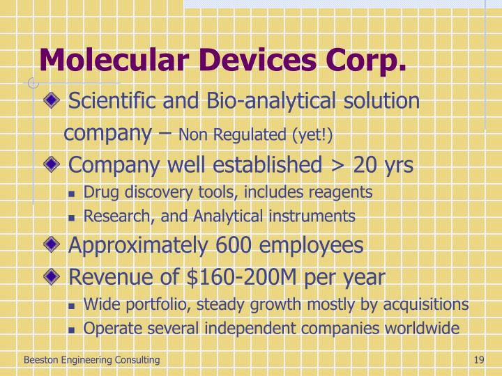 Molecular Devices Corp.