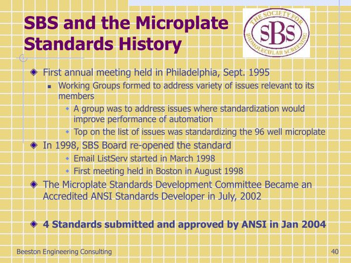 SBS and the Microplate Standards History