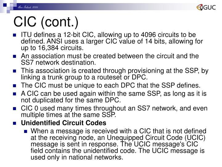 CIC (cont.)