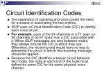 circuit identification codes