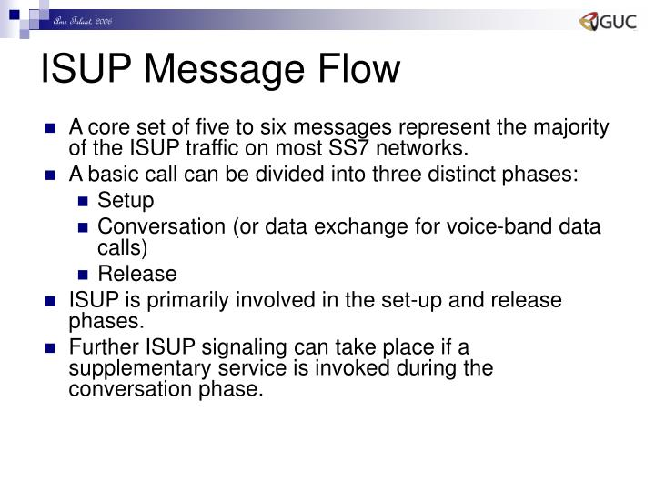 ISUP Message Flow