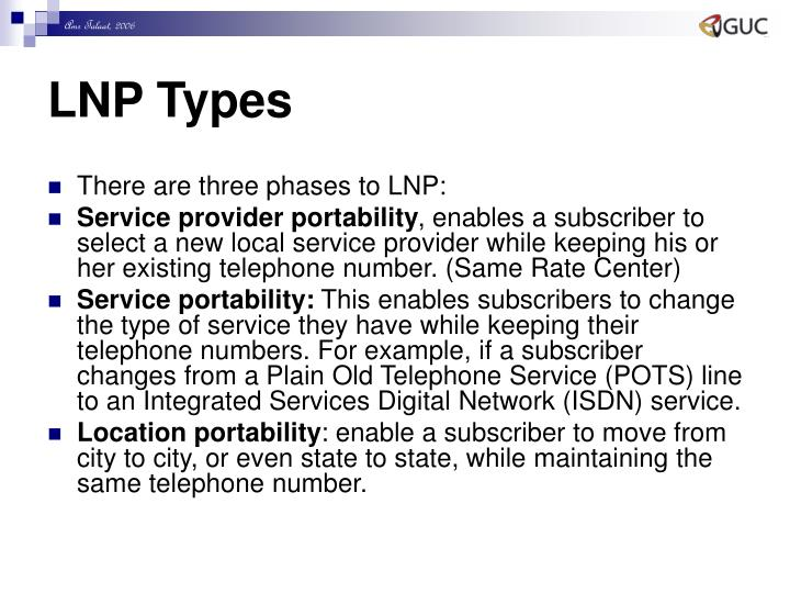 LNP Types