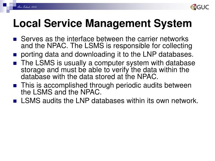 Local Service Management System