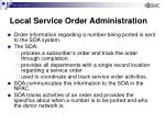 local service order administration