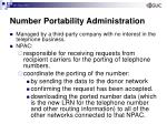 number portability administration