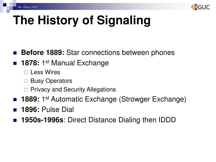 The History of Signaling