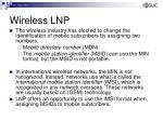 wireless lnp1