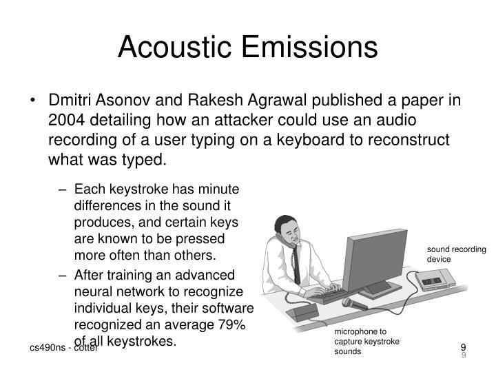 Acoustic Emissions