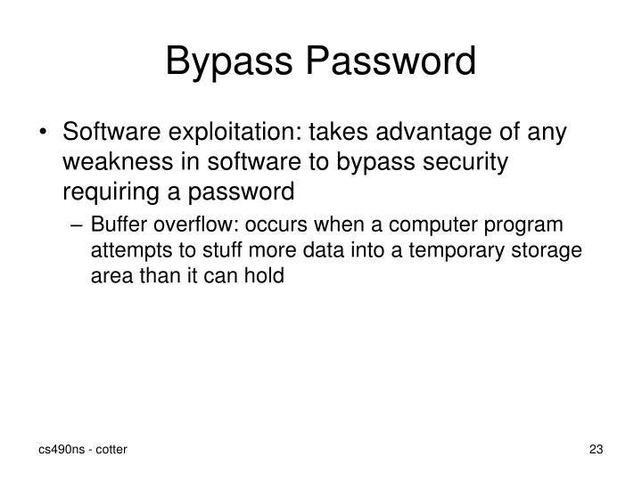 Bypass Password