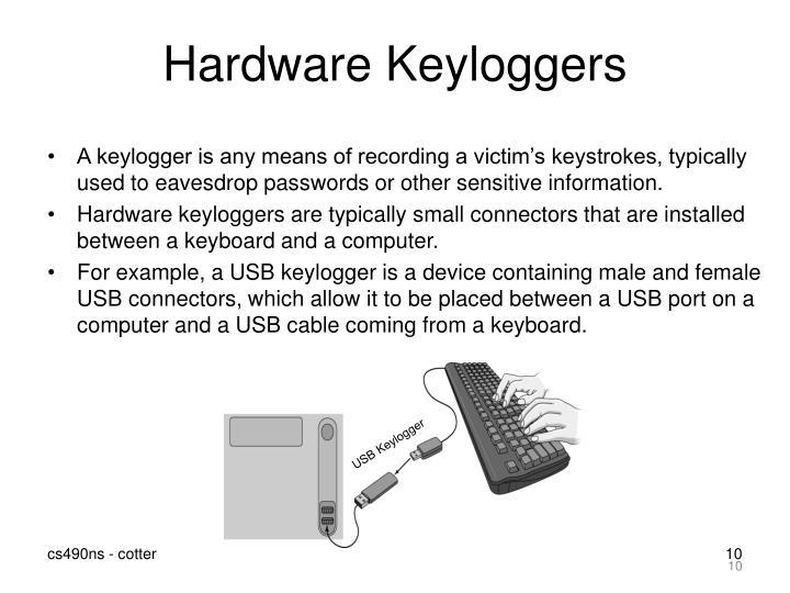 Hardware Keyloggers