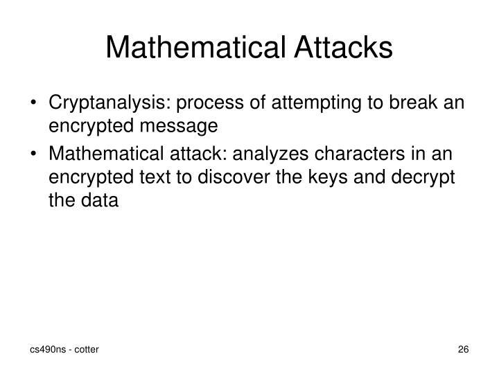 Mathematical Attacks