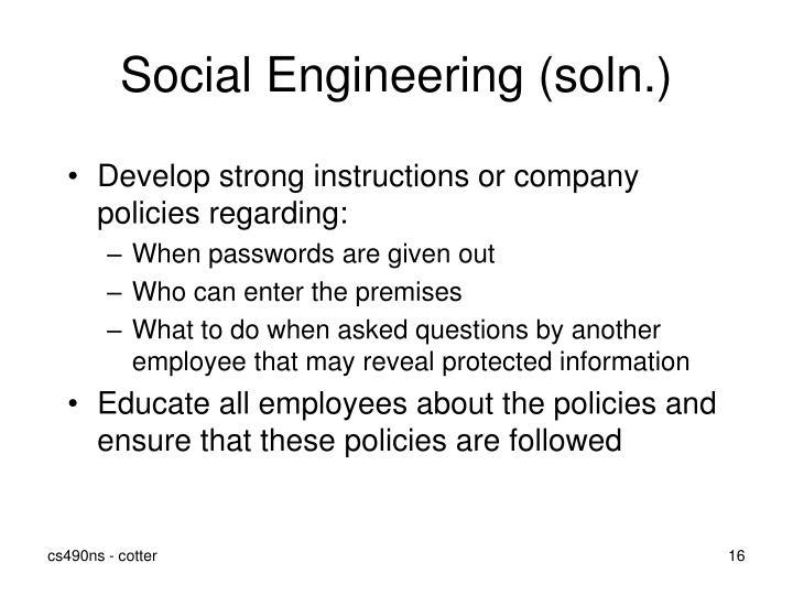 Social Engineering (soln.)