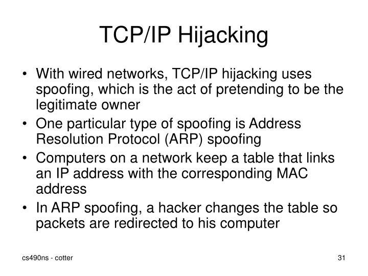 TCP/IP Hijacking