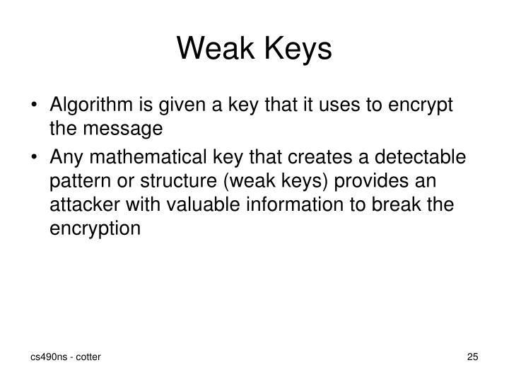 Weak Keys