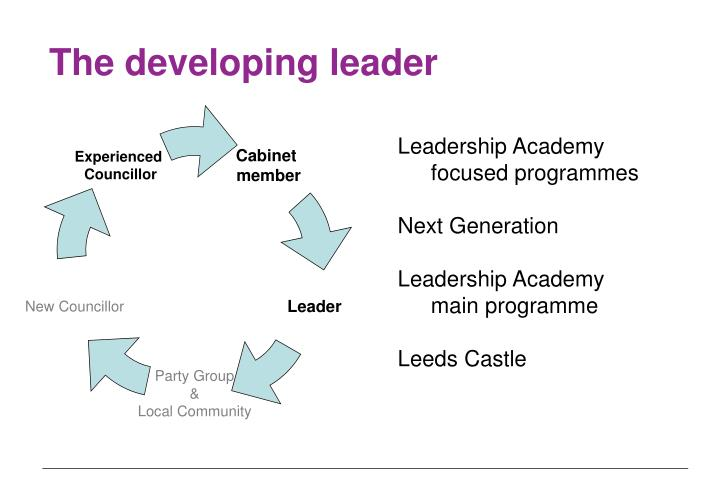 The developing leader