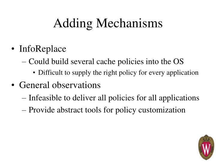 Adding Mechanisms