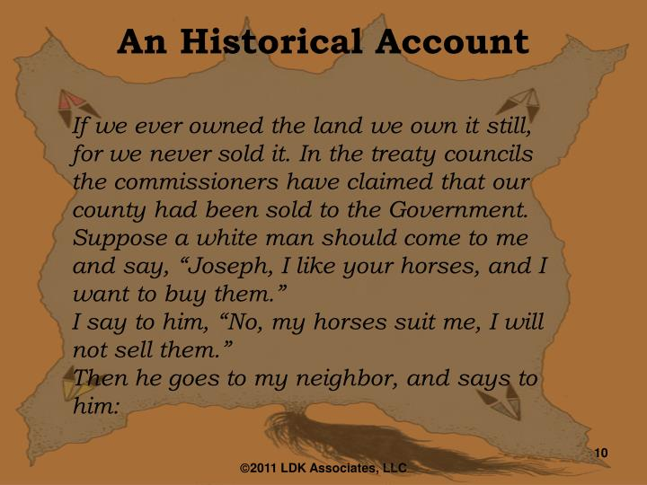 An Historical Account