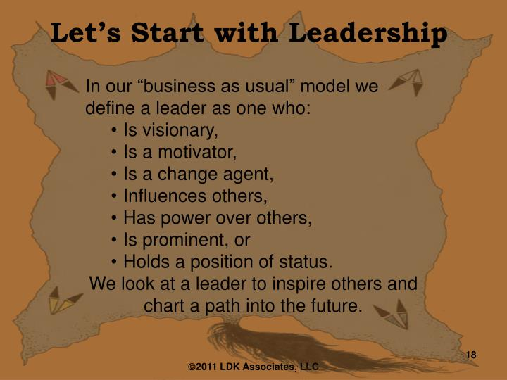 Let's Start with Leadership