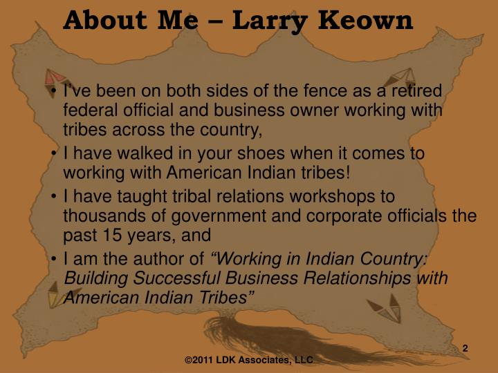About Me – Larry Keown