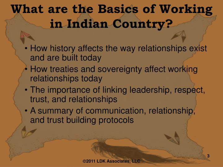 What are the Basics of Working in Indian Country?