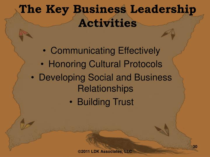 The Key Business Leadership Activities